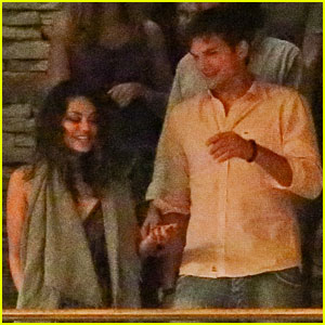 Mila Kunis & Ashton Kutcher: Dinner Date in Rio!