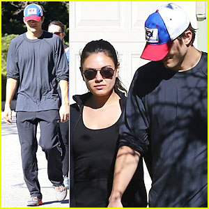Ashton Kutcher & Mila Kunis: Saturday Morning Walk!