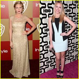 Brittany Snow & Anna Camp - Golden Globes Parties 2013