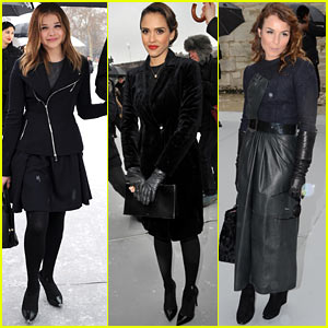 Chloe Moretz &#038; Jessica Alba: Christian Dior Paris Fashion Show!