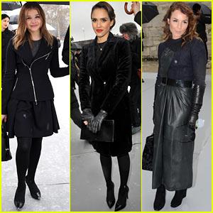 Chloe Moretz & Jessica Alba: Christian Dior Paris Fashion Show!