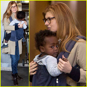 Connie Britton Airport With Eyob Celebrity Babies