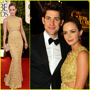 Emily Blunt & John Krasinski - Golden Globes 2013 Red Carpet