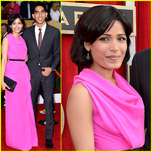 Freida Pinto & Dev Patel - SAG Awards 2013 Red Carpet