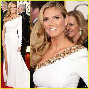 Heidi Klum - Golden Globes 2013 Red Carpet