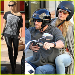 Heidi Klum & Martin Kirsten: Motorcycle Couple