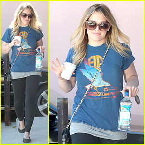 Hilary Duff: Post Holiday Piloxing Session!