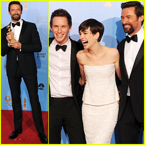 Hugh Jackman - Golden Globes 2013 Red Carpet