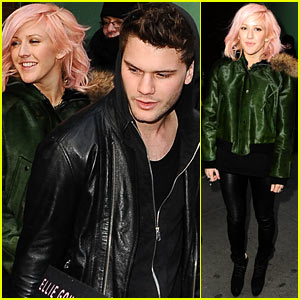 Jeremy Irvine & Ellie Goulding: 'Good Morning America' Exit