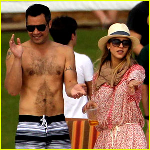 Jessica Alba: Cabo Beach with Shirtless Cash Warr