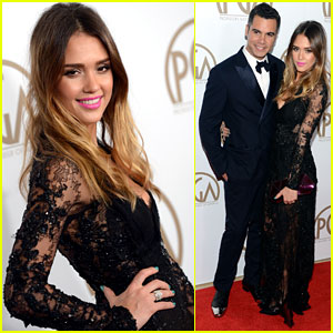 Jessica Alba & Cash Warren - Producers Guild Awards 2013