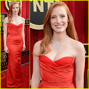 Jessica Chastain - SAG Awards 2013 Red Carpet