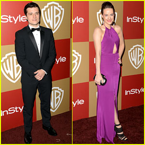 Josh Hutcherson & Jena Malone - Golden Globes Parties 2013