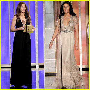 Julia Roberts & Catherine Zeta-Jones - Golden Globes 2013