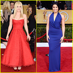 Kaley Cuoco & Jordin Sparks - SAG Awards 2013 Red Carpet