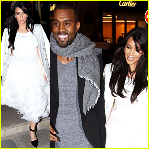 Kim Kardashian & Kanye West: Day Off in Paris!
