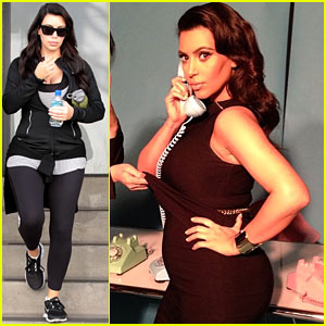 Kim Kardashian: My Baby Bump 'Popped Outta Nowhere'!