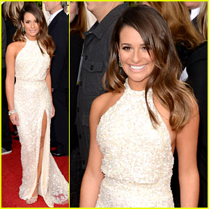 Lea Michele - Golden Globes 2013 Red Carpet