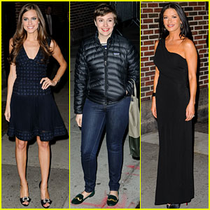 Lena Dunham &#038; Allison Williams: 'Letterman' Ladies!