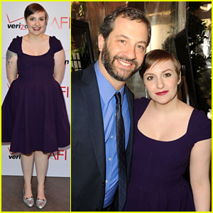Lena Dunham & Judd Apatow - AFI Awards 2013 Red Carpet