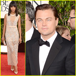 Leonardo DiCaprio & Kerry Washington - Golden Globes 2013 Red Carpet