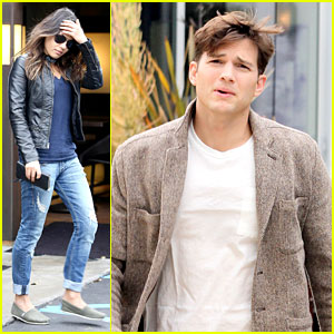 Mila Kunis &#038; Ashton Kutcher: Separate Afternoon Outings!