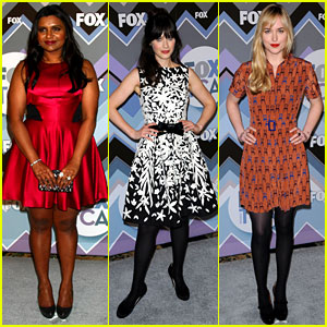 Mindy Kaling &#038; Zooey Deschanel: Fox's TCA All-Star Party!