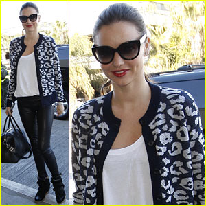 Miranda Kerr: Stylish Airport Arrival!