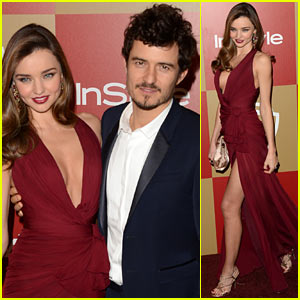 Miranda Kerr & Orlando Bloom - InStyle Golden Globes Party 2013