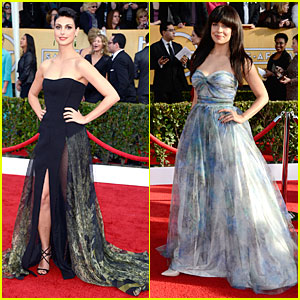 Morena Baccarin & Zuleikha Robinson - SAG Awards 2013 Red Carpet