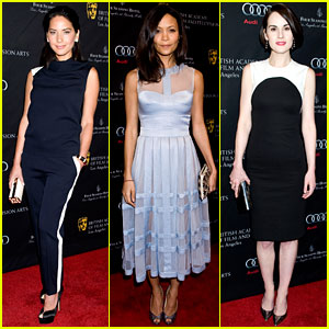 Thandie Newton & Olivia Munn - BAFTA Tea Party 2013