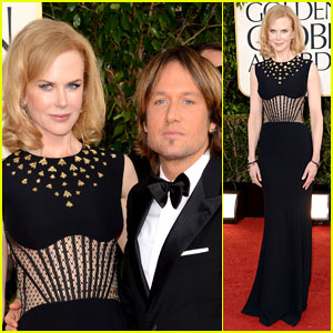 Nicole Kidman & Keith Urban - Golden Globes 2013 Red Carpet
