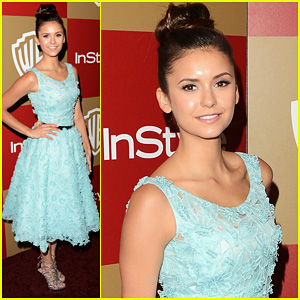 Nina Dobrev - InStyle Golden Globes Party 2013