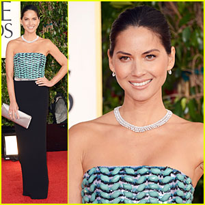 Olivia Munn - Golden Globes 2013 Red Carpet