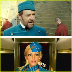 Russell Crowe Sings 'Stars' in Studio, Tweets Britney Spears!
