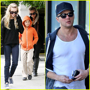 Ryan Phillippe Eats Subway, Reese Witherspoon &#038; Kids Shop