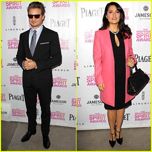 Salma Hayek & Jeremy Renner - Independent Spirit Brunch 2013