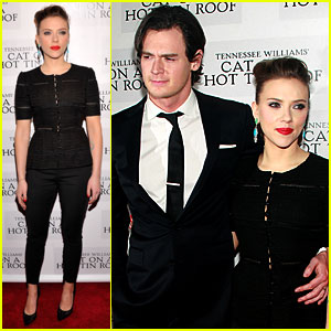 Scarlett Johansson: 'Cat on a Hot Tin Roof' Opening Party!