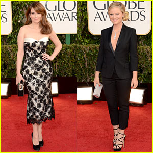 Tina Fey & Amy Poehler - Golden Globes 2013 Red Carpet