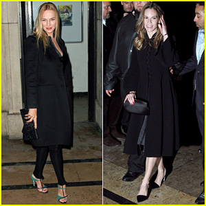 Uma Thurman & Hilary Swank: Giorgio Armani Paris Fashion Show