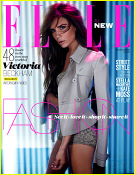 Victoria Beckham Covers 'Elle UK', David Films Adidas Ad
