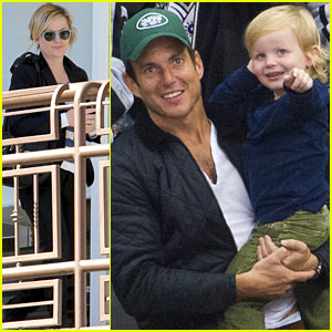 Amy Poehler Grabs Sushi, Will Arnett & Archie Cheer on the Kings