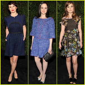 Andrea Riseborough &  Emily Mortimer: Chanel Pre-Oscars Dinner 2013