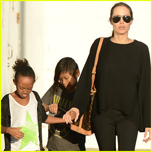 Angelina Jolie, Zahara, & Pax: Urban Outfitters Shoppers!