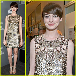 Anne Hathaway - Costume Designers Guild Awards 2013 Red Carpet