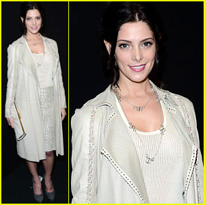 Ashley Greene: Front Row at Ferragamo Fashion Show