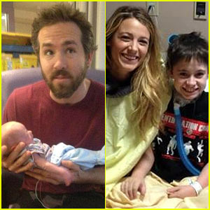 Blake Lively & Ryan Reynolds Visit Sick Children in the Hospital