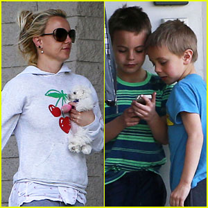 Britney Spears: Animal Hospital with New Pup & the Boys