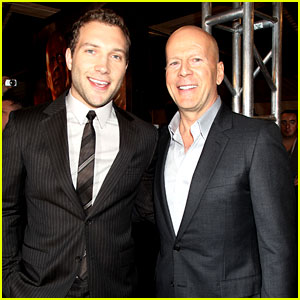 Bruce Willis & Jai Courtney: 'Good Day to Die Hard' Fan Event