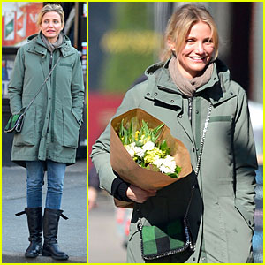 Cameron Diaz: Flowers After Valentine's Day!